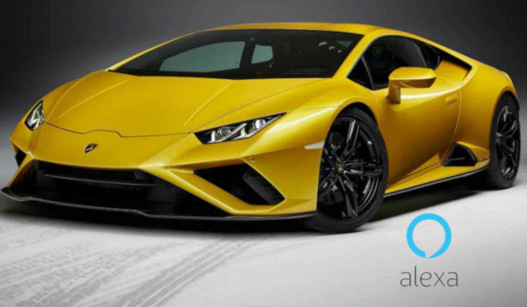 O Lamborghini Huracan Evo torna-se no primeiro carro do mundo a ter uma integração com o assistente Amazon Alexa